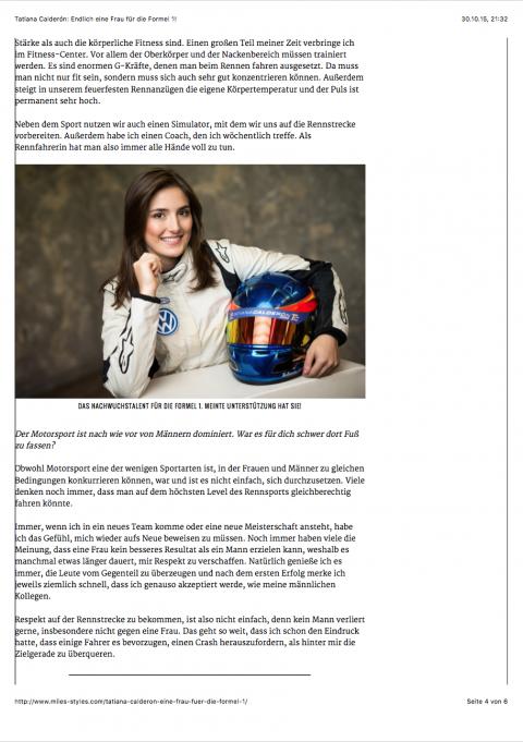 Tatiana Calderon Endlich eine Frau für die Formel